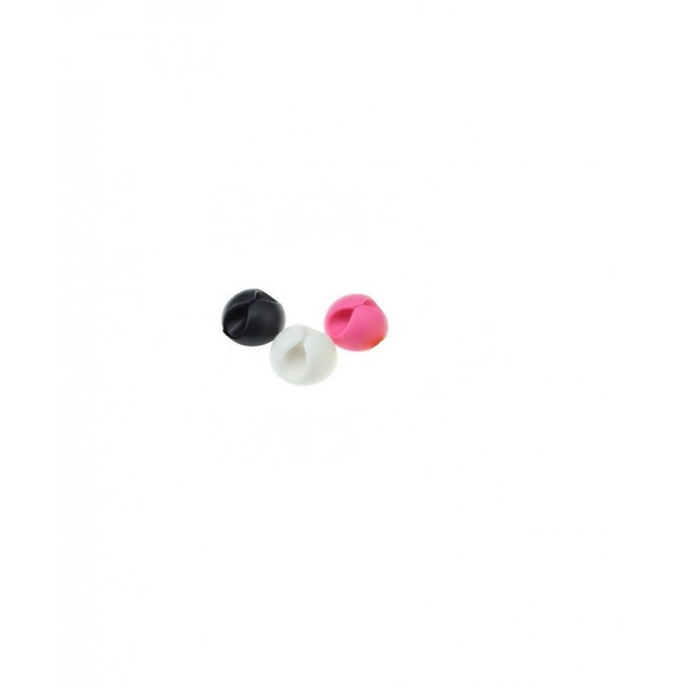 Samolepící klip pro vedení kabelů, Barva Růžová