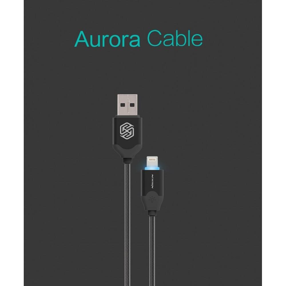 Nilkin Aurora Lightning kabel pro iPhone, Černá
