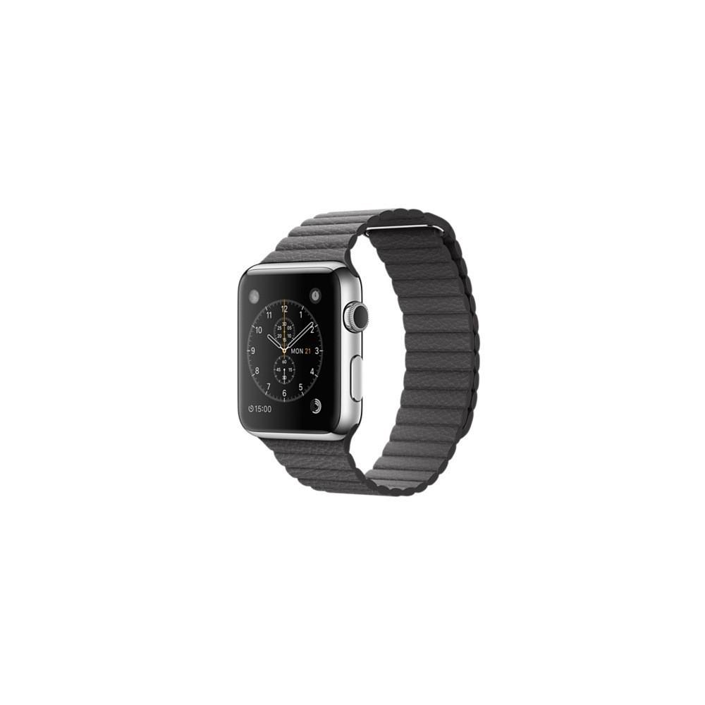 Řemínek Leather Loop pro Apple Watch 38mm, Velikost 38mm, Barva Šedá
