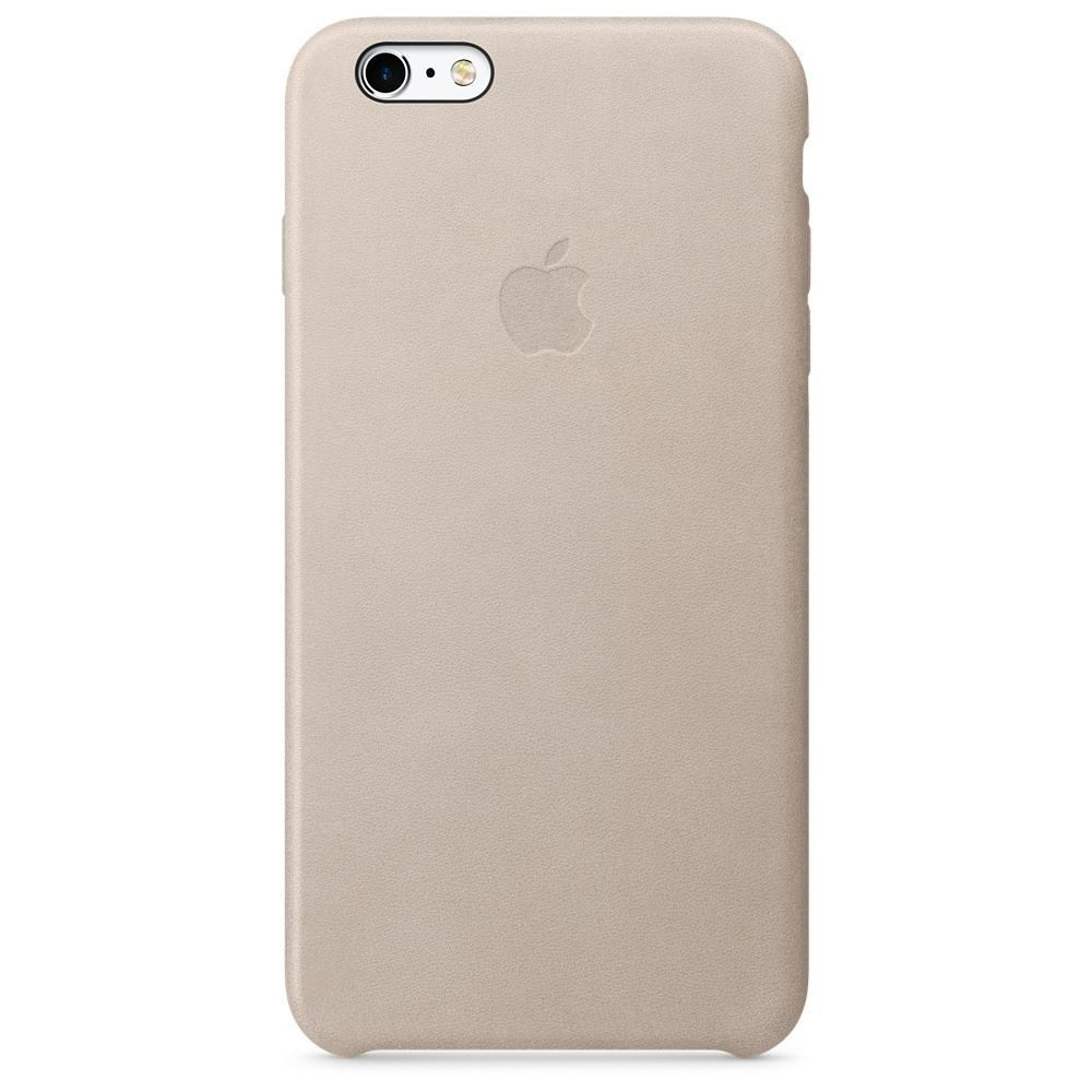 Pouzdro Apple iPhone 6S Plus Leather Case šedé růžové