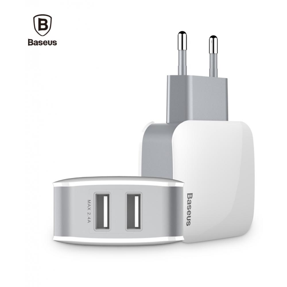 Baseus Letour Dual U síťový adaptér s 2x USB