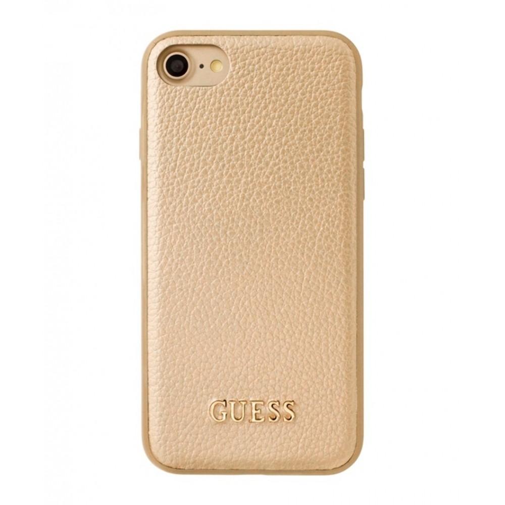 Pouzdro Guess IriDescent TPU iPhone 7/8, Champagne Gold