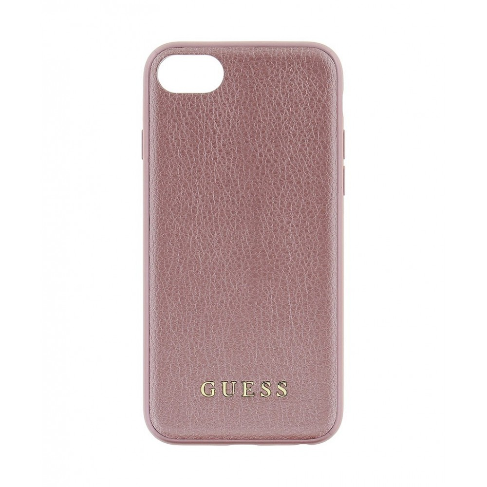 Pouzdro Guess IriDescent TPU iPhone 7/8, Rose Gold