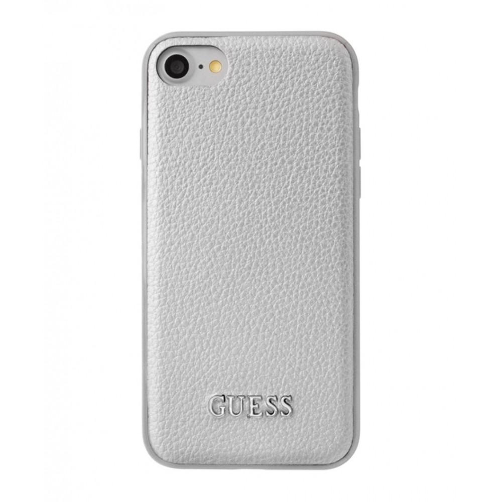 Pouzdro Guess IriDescent TPU iPhone 7/8, Stříbrná