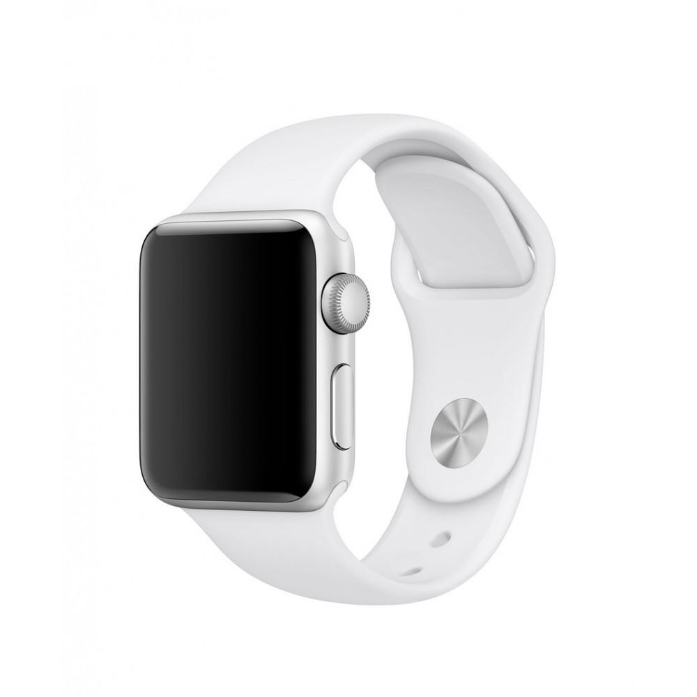 4-OK Sportovní řemínek pro Apple Watch (42mm), Bílá