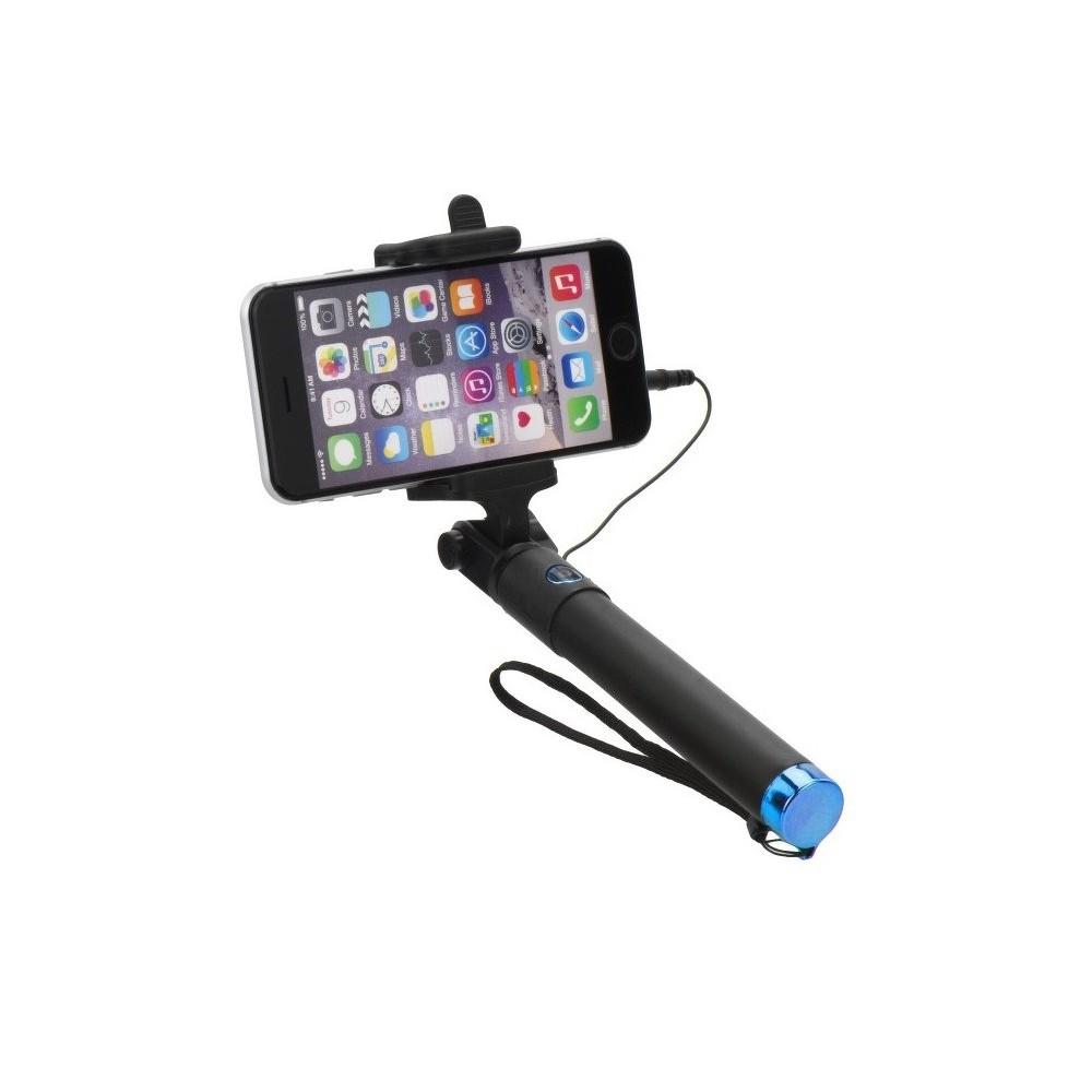 Selfie tyč 85cm s ovládáním na rukojeti, Modrá