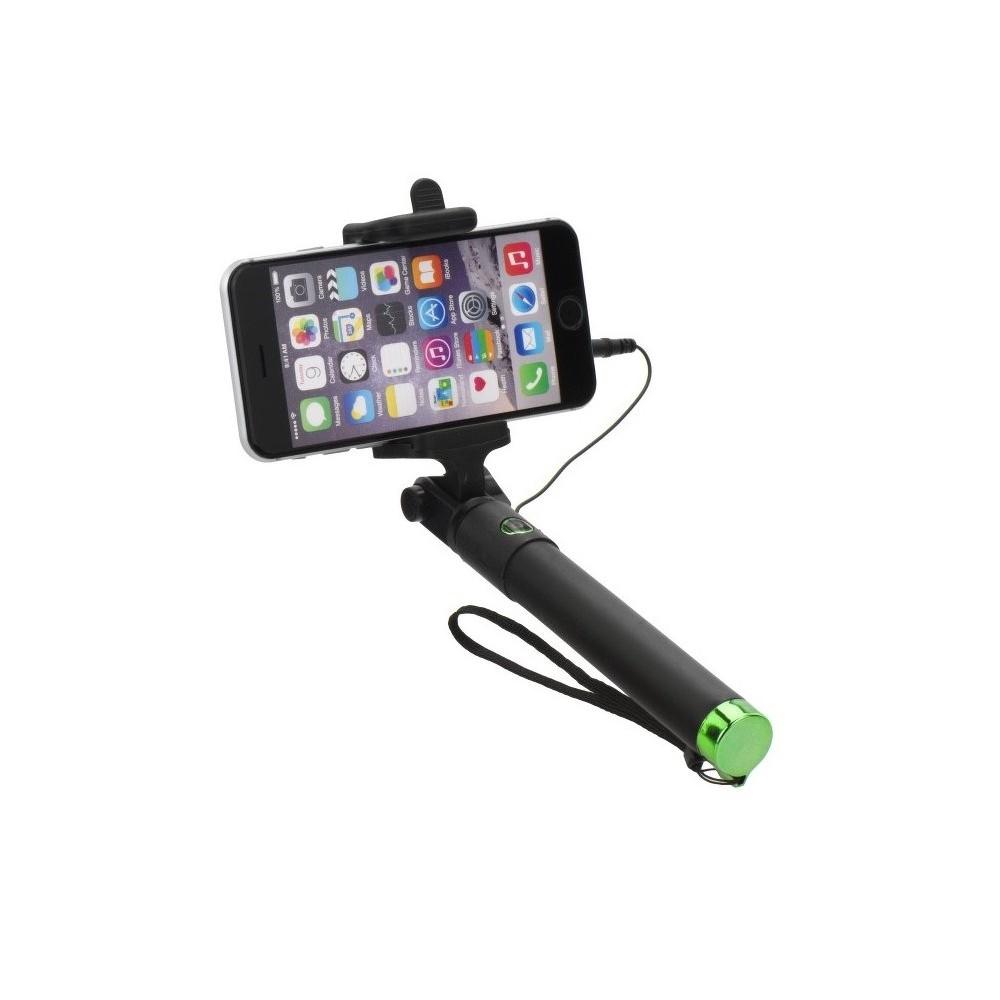 Selfie tyč 85cm s ovládáním na rukojeti, Zelená