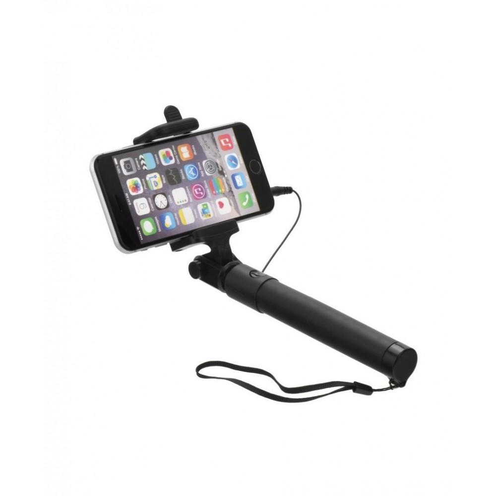 Selfie tyč 85cm s ovládáním na rukojeti, Černá