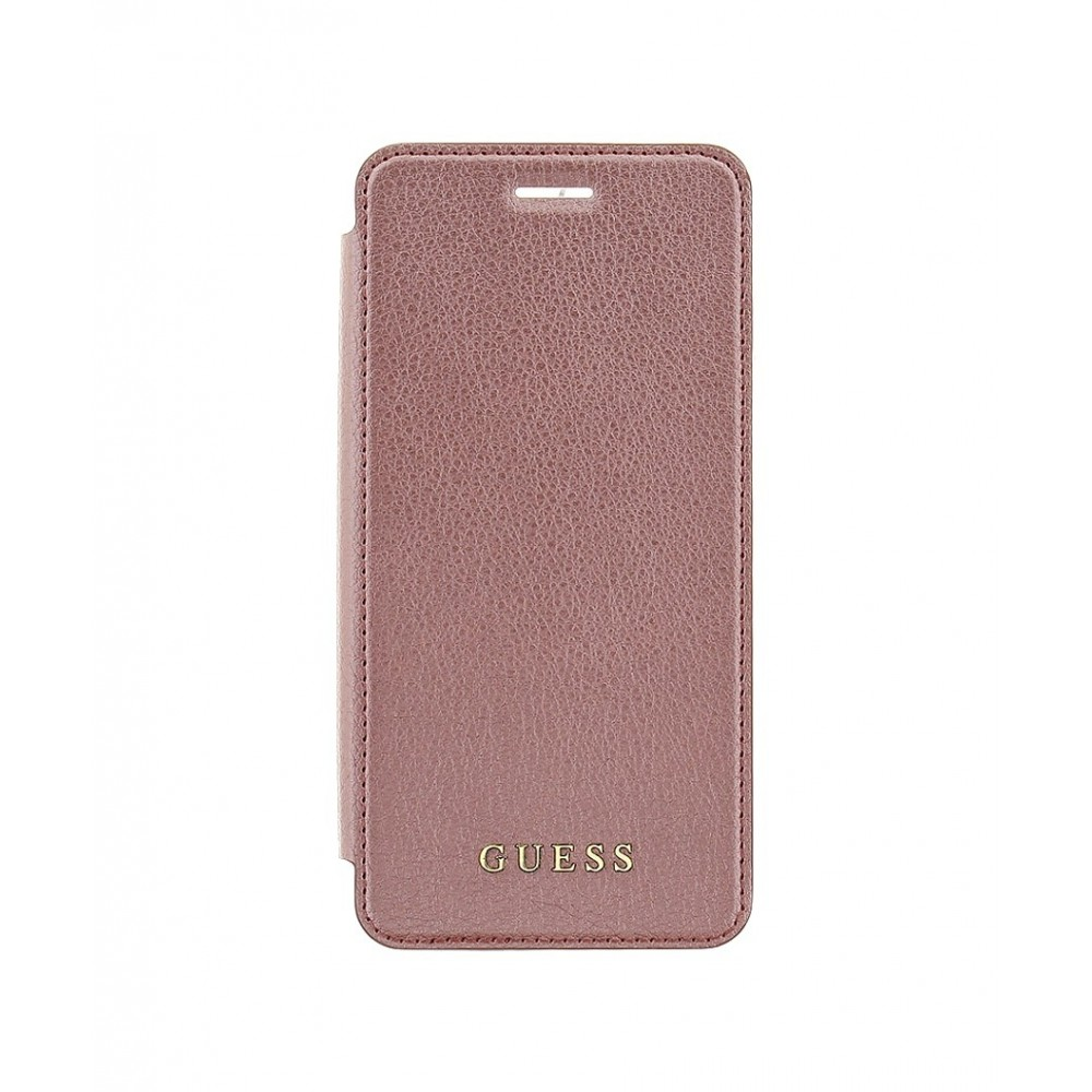 Pouzdro Guess IriDescent Book Rose iPhone 7 zlaté