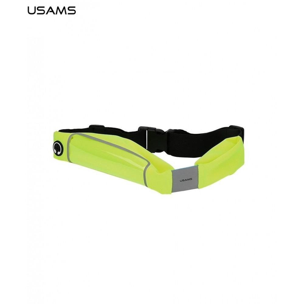 """Pouzdro USAMS Sportovní na Pas Smartphone 4.7"""", Barva Zelená"""