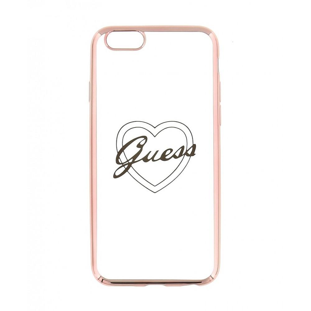 Guess Signature Heart TPU Case pro iPhone 6/6S Plus, Rose Gold