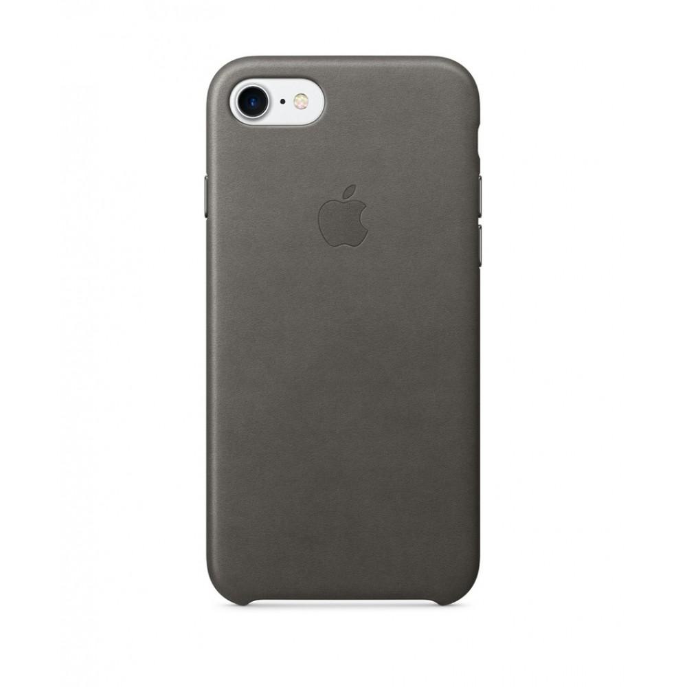 Apple iPhone 7 Leather Case Bouřkově šedá