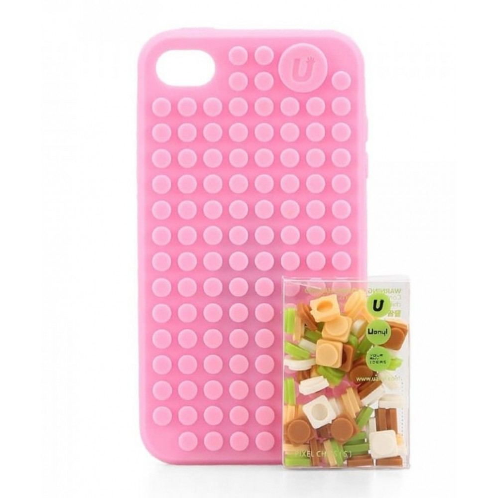 UANYI Pixel pouzdro pro iPhone 4/4S, Růžová
