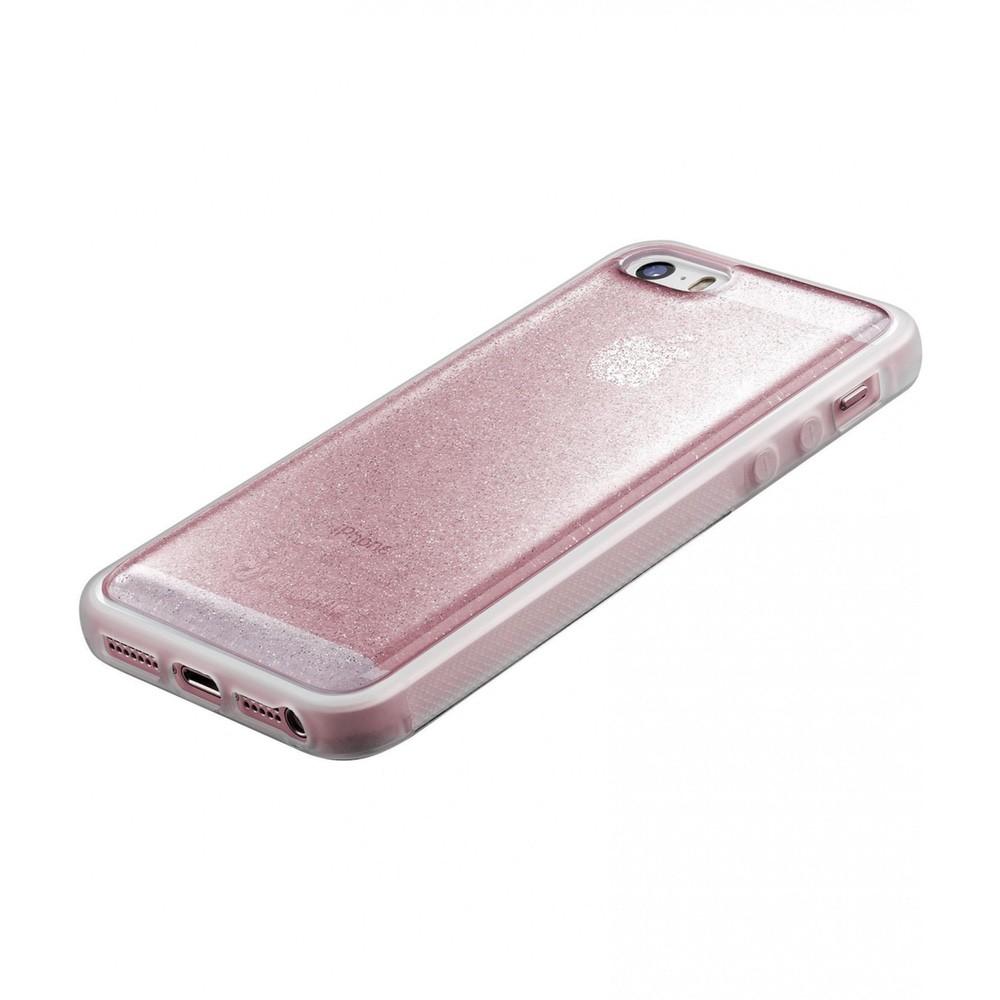 Pouzdro CellularLine SELFIE CASE Apple iPhone 5/5S/SE, Růžová