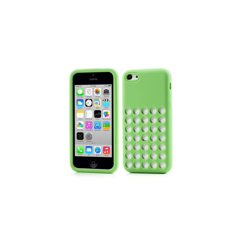 Pouzdro na iPhone 5C děrované, Barva Zelená