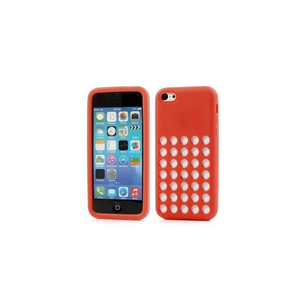 Pouzdro na iPhone 5C děrované, Barva Růžová