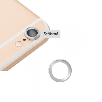Kryt/ozdoba fotoaparátu pro iPhone 6/6S stříbrný