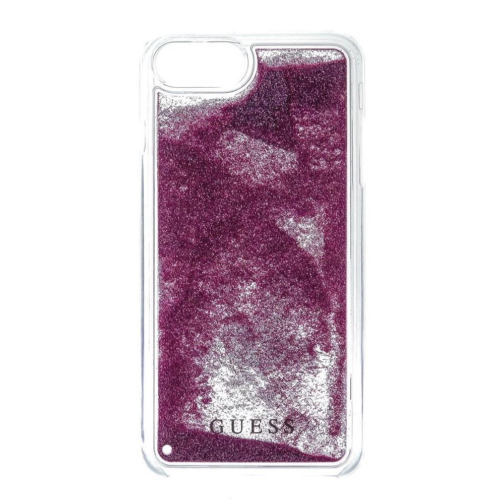 Guess Liquid Glitter kryt pro iPhone 8/7/6S/6, Rose Gold