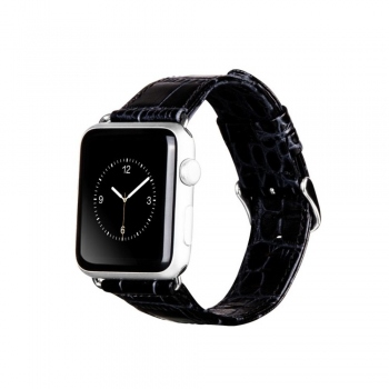 Hoco Leather Black řemínek pro Apple Watch (38mm)