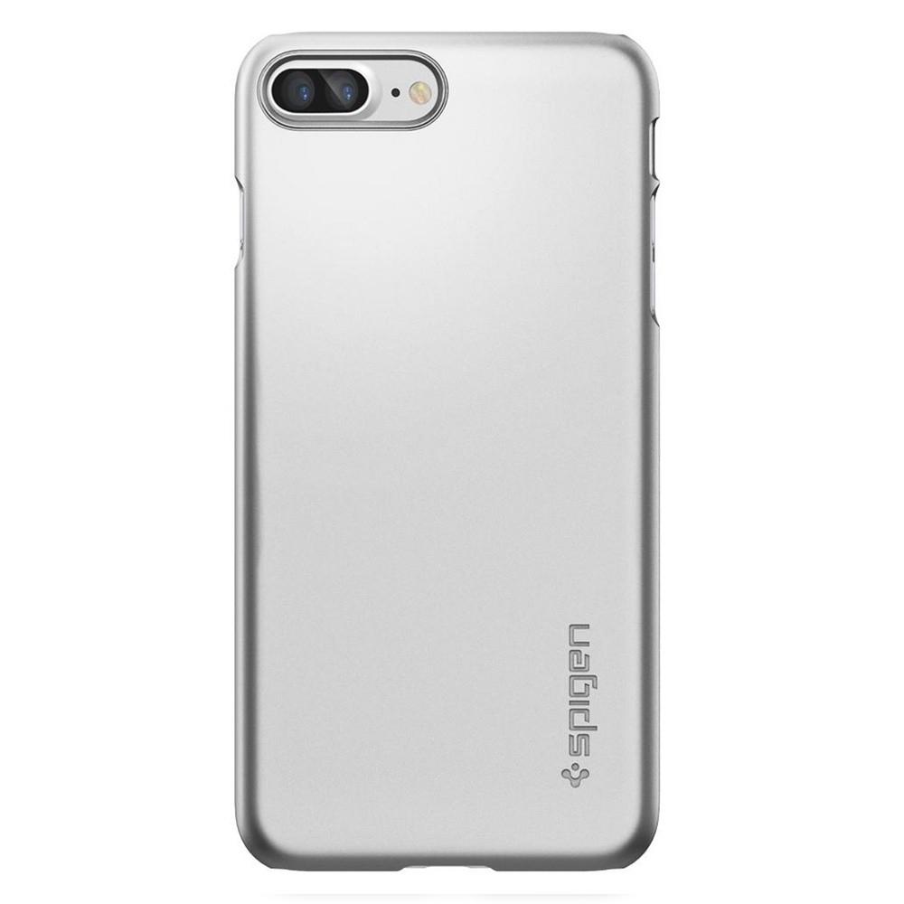 Spigen Thin Fit kryt pro iPhone 7 Plus / 8 Plus stříbrný