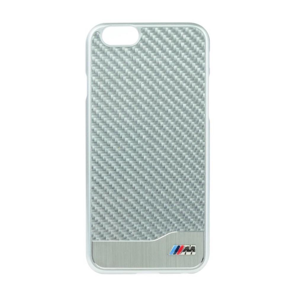 Pouzdro BMW Carbon Aluminium iPhone 6 stříbrné