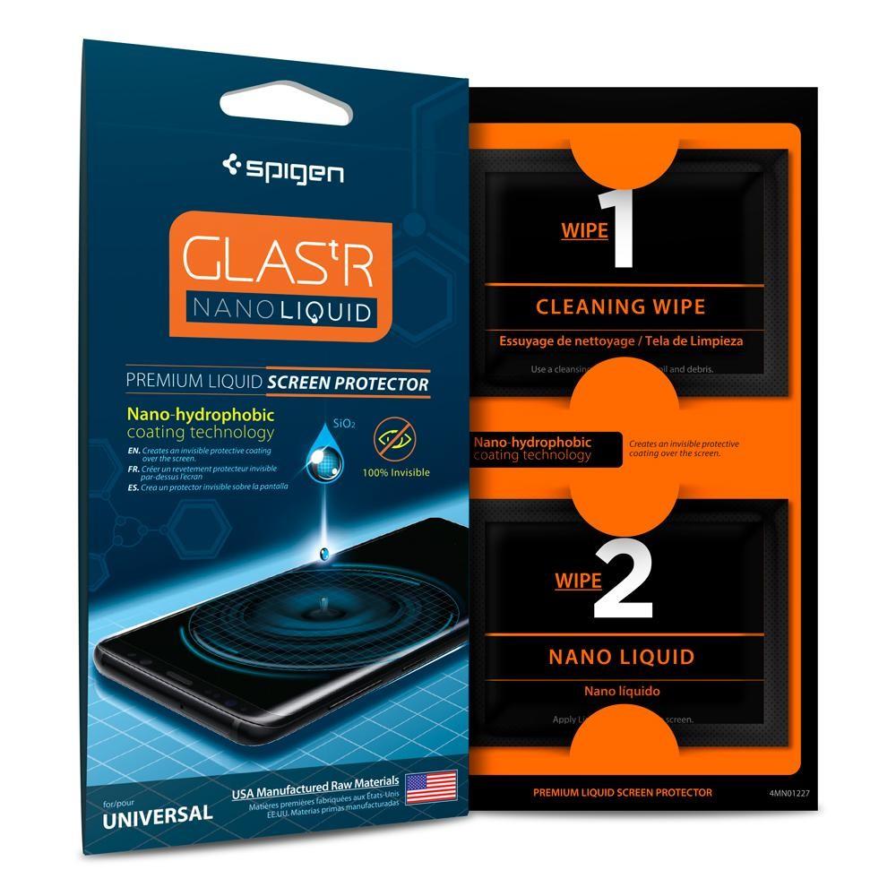 SPIGEN Glas.tR Nano Liquid - Univerzální ochranné tekuté sklo pro telefony a tablety / tvrdost 9H (LIQUIDGLASS)