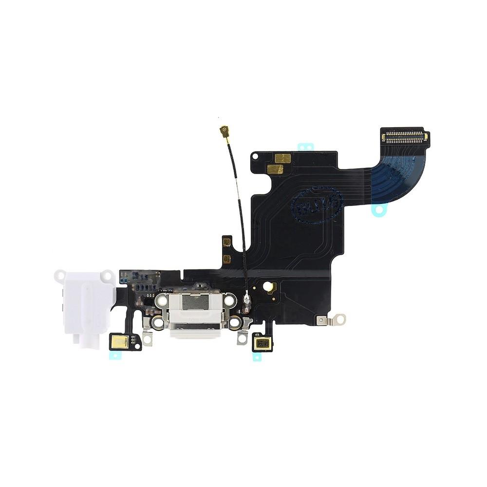 Flex s nabíjecím konektorem, jackem, anténou a mikrofonem pro iPhone 6S - bílý
