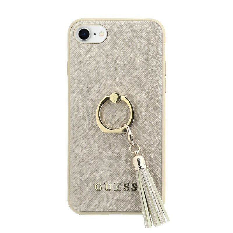 Pouzdro Guess Saffiano Ring Hard Case iPhone 7/8 , Béžová
