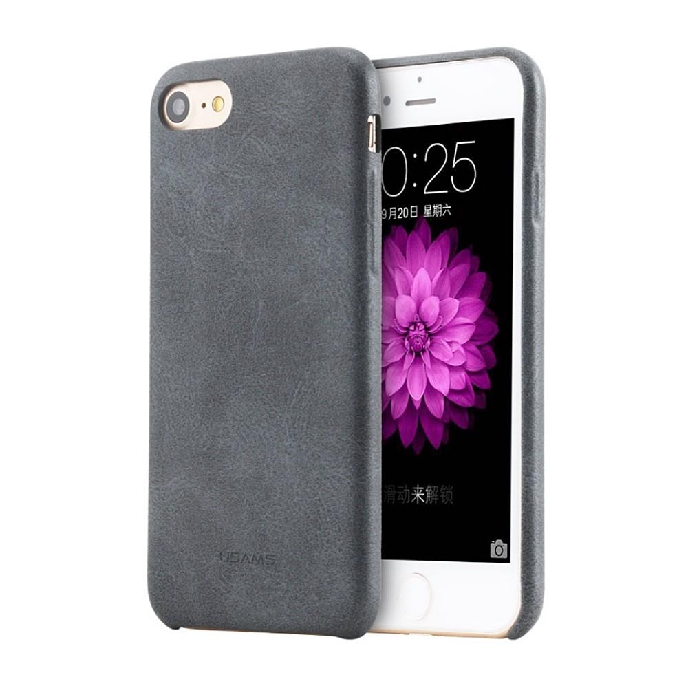 Kryt USAMS Bob Leather kryt na iPhone 7/8 - šedé