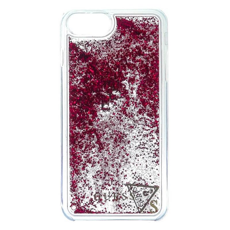 Pouzdro Guess Liquid Glitter Hard Raspberry iPhone 6/6S/7 Plus
