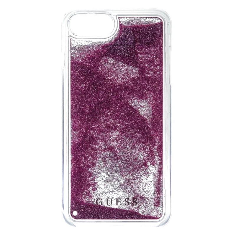 Guess Liquid Glitter Rose Gold kryt pro iPhone 6/6S/7/8 Plus, Rose Gold