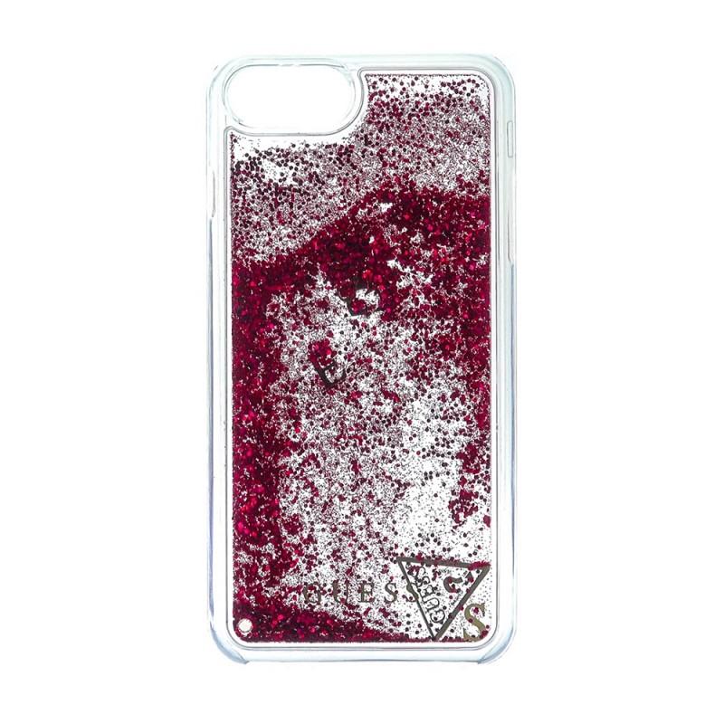 Pouzdro Guess Apple iPhone 7 / 6s / 6 Liquid Glitter RASPBERRY