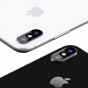 USAMS Camera Lens Glass Film for iPhone X