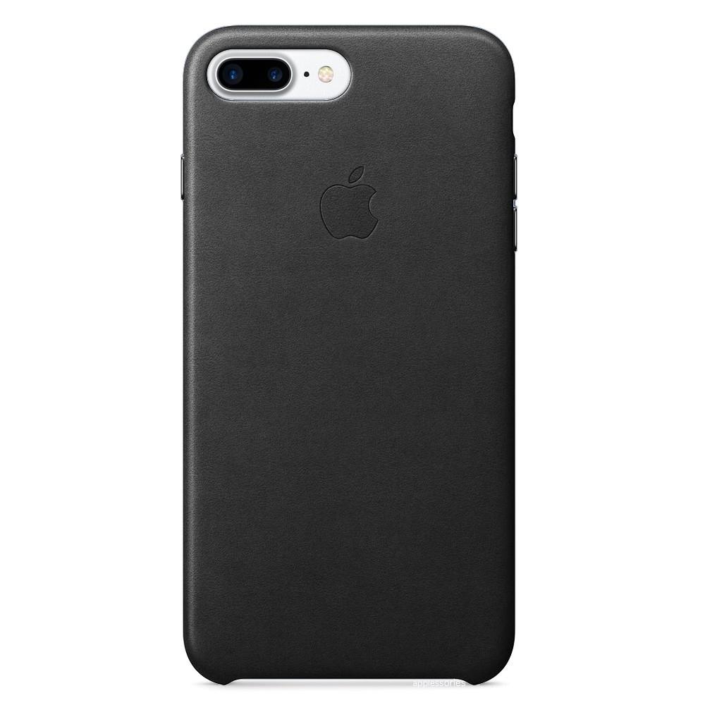 Apple iPhone 8 Plus/ 7 Plus Leather Case Black