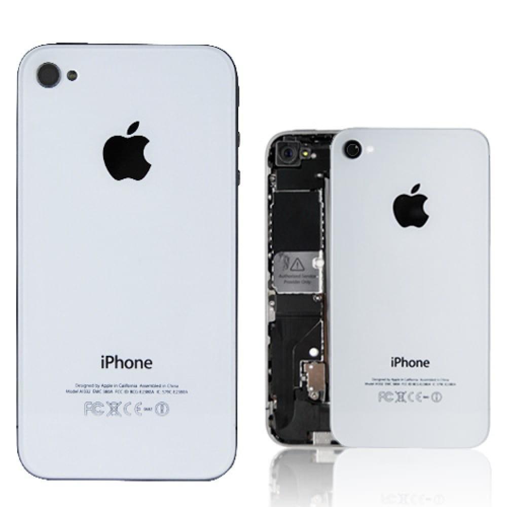 Zadní skleněný kryt pro iPhone 4, Bílá