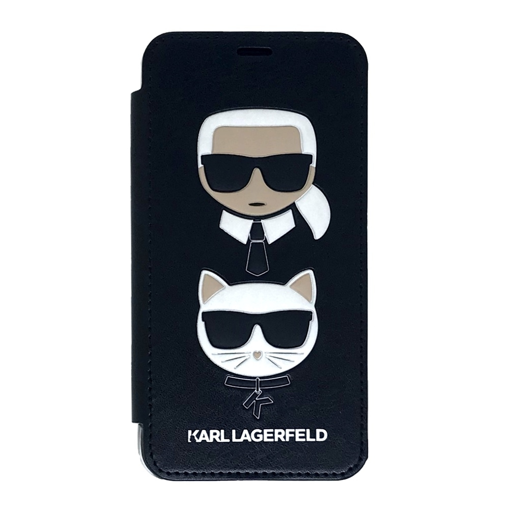 Karl Lagerfeld & Choupette Iconic Book case for iPhone Xs / X