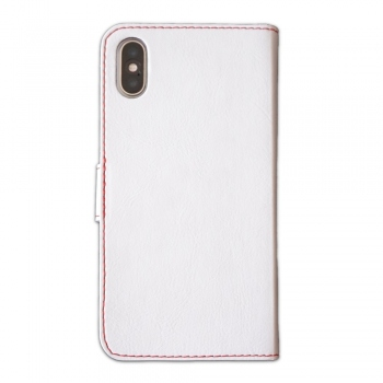 Fixed Fit Booktype Case for iPhone X - white