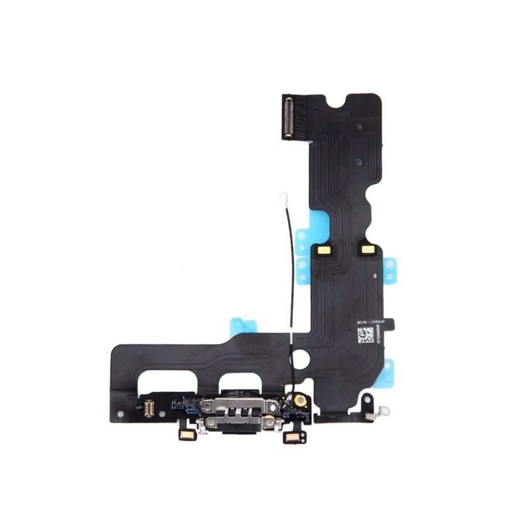 Flex s nabíjecím konektorem a mikrofonem pro iPhone 7 - černý
