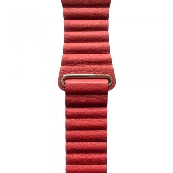 Kožený řemínek pro Apple Watch 38mm / 40mm - červený